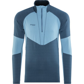 Bergans Roni Sweat-shirt en polaire avec demi-zip Homme, steelblue/steelblue